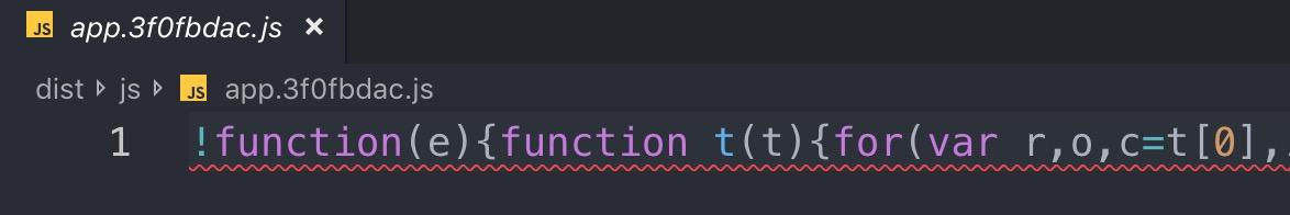 Minified Javascript code